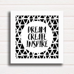 Quadro Dream Create Inspire na internet
