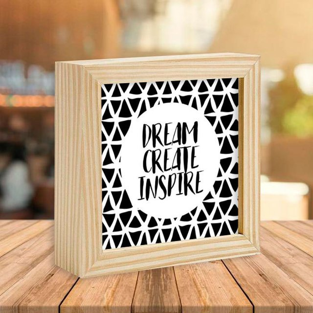 Quadro Box Dream Create Inspire