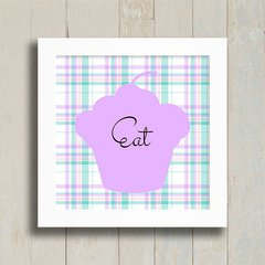 Quadro Eat Cupcake na internet