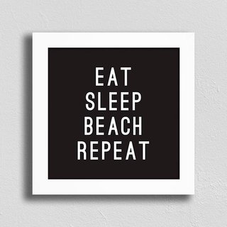 Quadro Eat Sleep Beach Repeat
