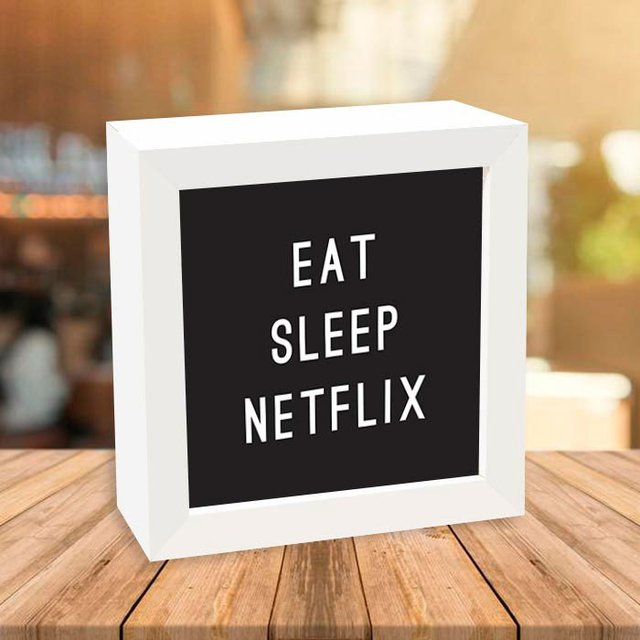 Quadro Box Eat Sleep Netflix - comprar online