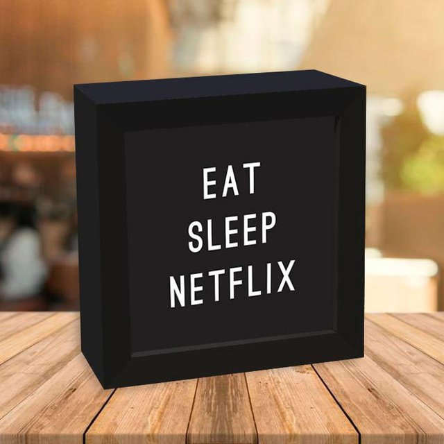 Quadro Box Eat Sleep Netflix na internet
