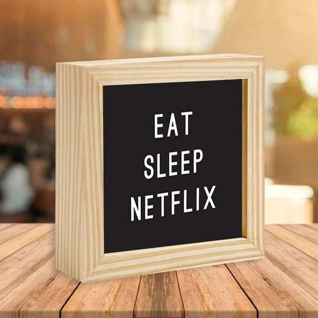 Quadro Box Eat Sleep Netflix