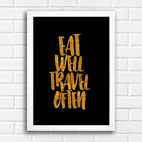 Poster Eat Well Travel Often - comprar online