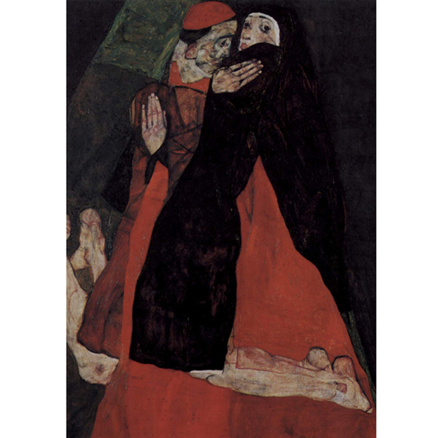 Egon Schiele - Cardinal and Nun Caress na internet