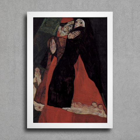 Egon Schiele - Cardinal and Nun Caress