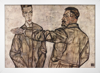 Egon Schiele - Double Portrait - Chief Inspector Heinrich Benesch and his Son Otto - comprar online