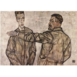 Egon Schiele - Double Portrait - Chief Inspector Heinrich Benesch and his Son Otto na internet