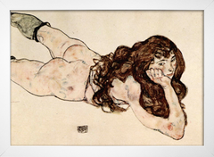 Egon Schiele - Female Nude Lying on her Stomach - comprar online