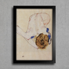 Egon Schiele - Forwards Female Nude - Encadreé Posters