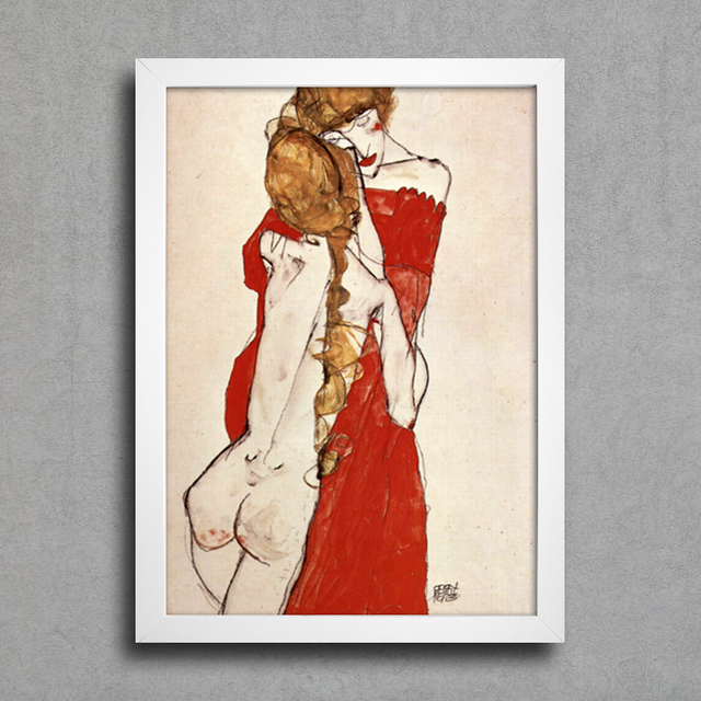 Egon Schiele - Mother and Daughter na internet