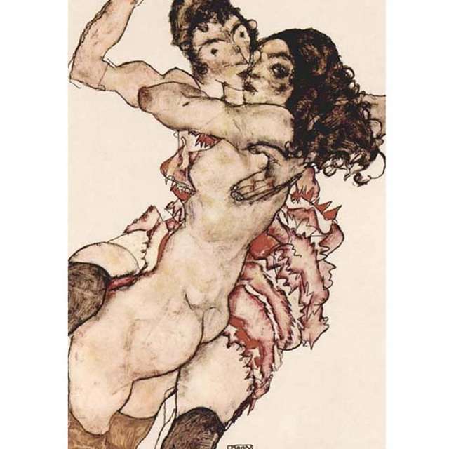 Egon Schiele - Pair of Women Embracing Each Other na internet