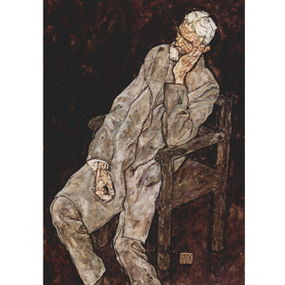 Egon Schiele - Portrait of an Old Man Johann Harms na internet