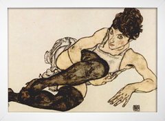 Egon Schiele - Reclining Woman With Green Stockings Adele Harms - comprar online
