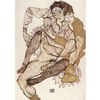 Egon Schiele - Seated Couple Egon and Edith Schiele na internet