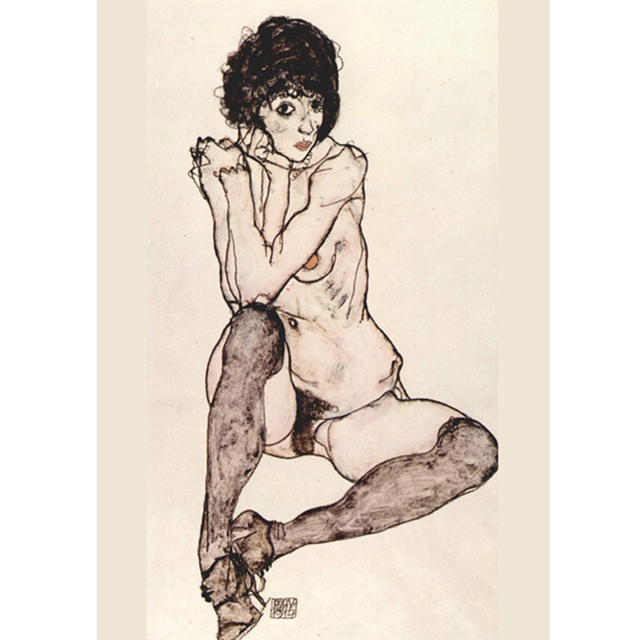 Egon Schiele - Seated Female Nude With Elbows Propped na internet