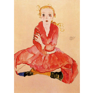 Egon Schiele - Seated Girl Facing Front na internet