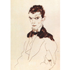 Egon Schiele - Self Portrait na internet