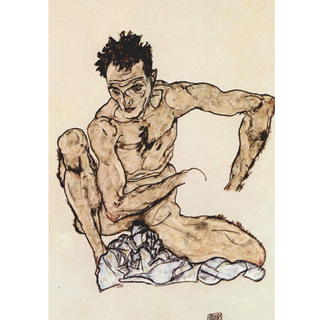 Egon Schiele - Self-Portrait II na internet