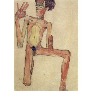 Egon Schiele - Self-Portrait III na internet