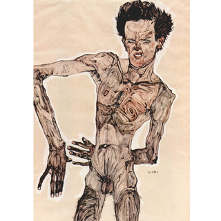 Egon Schiele - Self-Portrait IV na internet