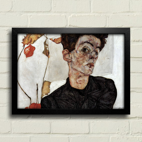 Egon Schiele - Self Portrait With Chinese Lantern Fruits