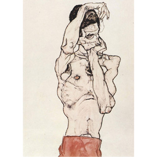 Egon Schiele - Standing Male Nude With a Red Loincloth na internet