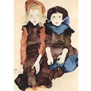 Egon Schiele - Two Little Girls na internet
