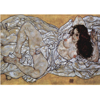 Egon Schiele - Woman Lying Down na internet