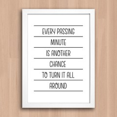 Poster Every Passing Minute na internet
