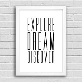 Poster Explore Dream Discover na internet