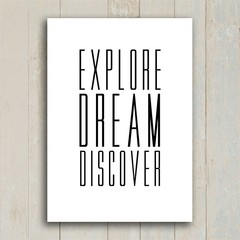 Imagem do Poster Explore Dream Discover