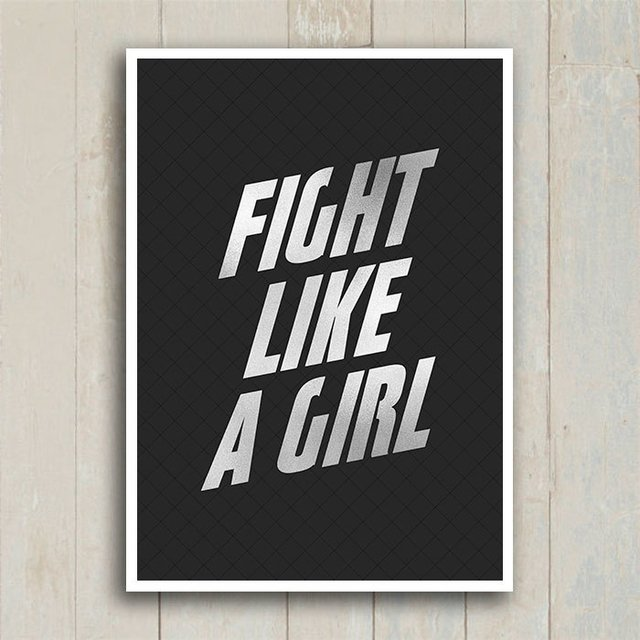 Poster Fight Like a Girl - Encadreé Posters