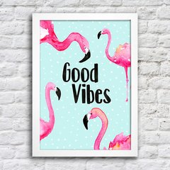 Poster Flamingo Good Vibes na internet