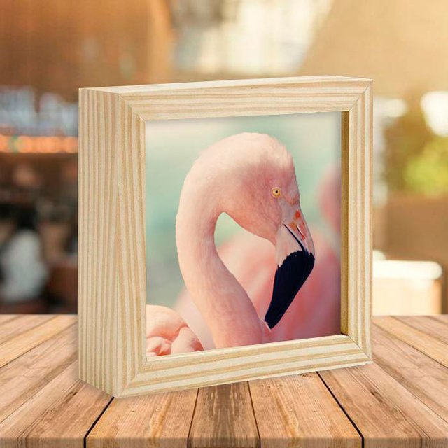Quadro Box Flamingo Head - comprar online