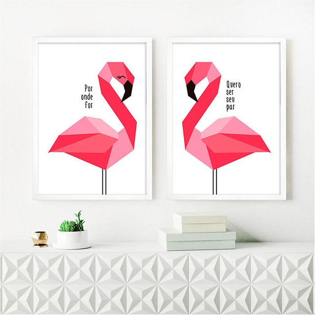 Kit Flamingo Por onde for - Encadreé Posters
