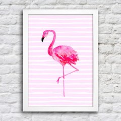 Poster Flamingo Stripes na internet