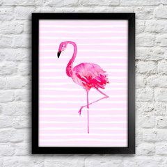 Poster Flamingo Stripes - comprar online