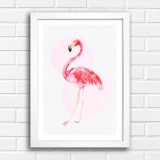 Poster Flamingo Watercolor na internet