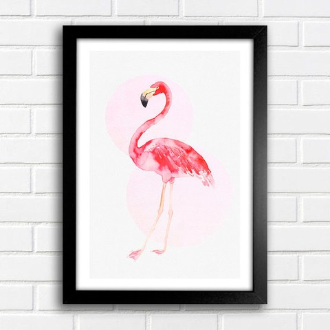 Poster Flamingo Watercolor - comprar online
