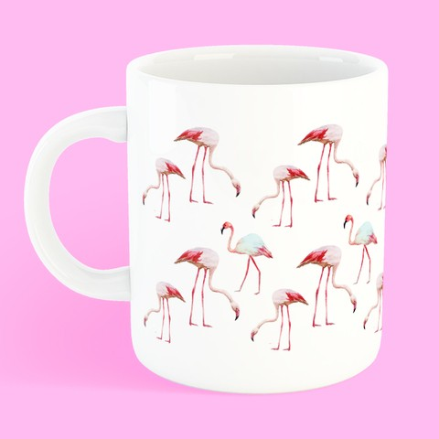 Caneca Flamingos na internet