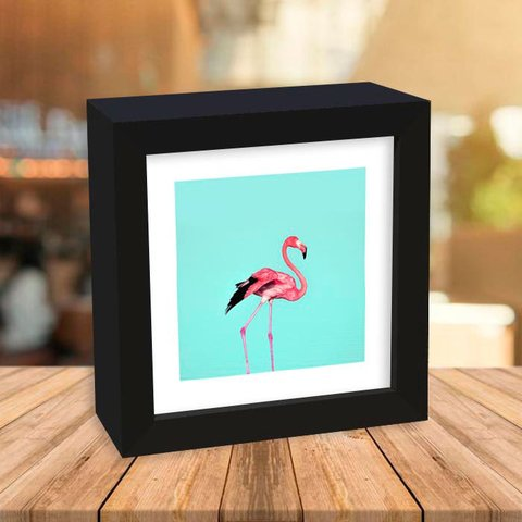 Quadro Box Flamingo