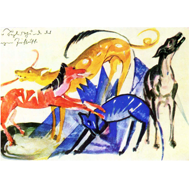 Franz Marc - Dogs