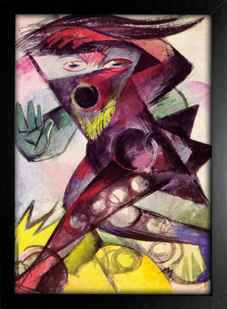 Imagem do Franz Marc - Caliban - Personagem de Shakespeare