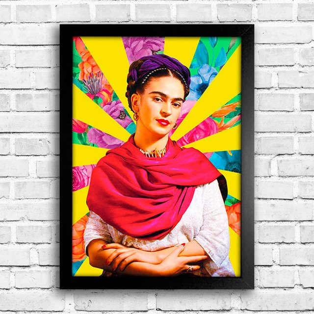 Poster Frida Flower Raios