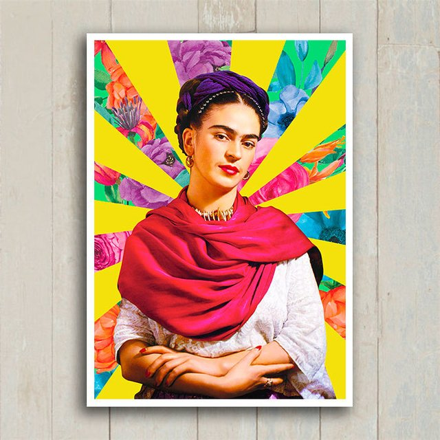 Poster Frida Flower Raios na internet