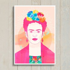 Poster Frida Colors na internet