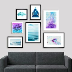 Gallery Wall Blue & Purple