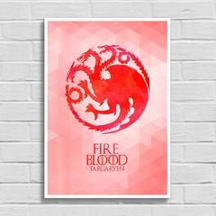 Imagem do Poster Game of Thrones - Fire and Blood - Targaryen