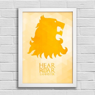 Poster Game of Thrones - Hear me Roar - Lannister na internet